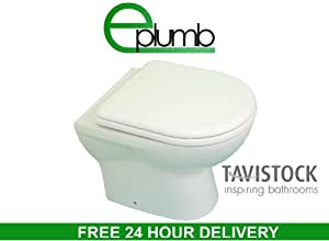 Tavistock Micra 500 Compact Mini Back to Wall Toilet Pan WC BTW Soft Close Seat       Customer review and more news