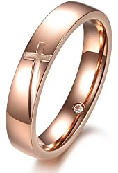 Amazon.com: Opk Jewelry Fashion Couple Rings Inlaid Shiny Crystals