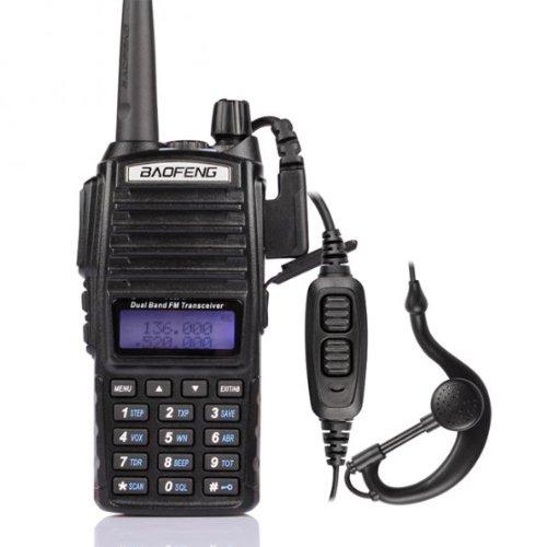 2 Pack 2014 Baofeng UV-82L VHF/UHF Ham radio Bidirectionnelle de Talkie-Walkie avec 18cm Atenna & 3000mA Batterie, Noir + 1 * Baofeng VB-8L Batterie