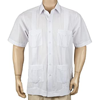 Deluxe Short Sleeve White Guayabera by Mycubanstore
