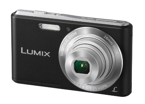 Panasonic Lumix DMC-F5EB-K Compact Camera - Black (14.1MP, 5x Optical Zoom, Super Slim Design, 28mm Wide Angle Lens, HD Video Recording) 2.7 inch LCD