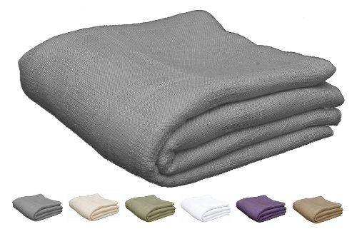 Why Should You Buy Utopia Bedding Cotton Queen / Full Bed Blanket – Smoke Gray
