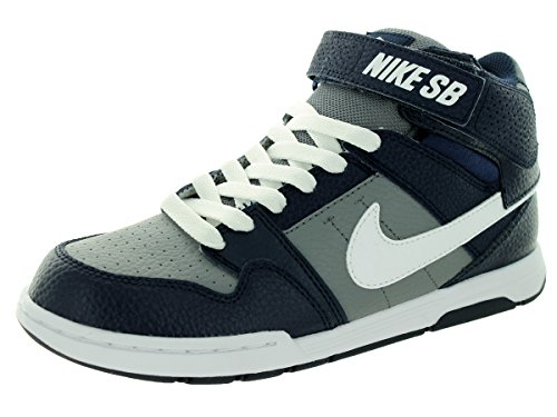 Nike Kids Mogan Mid 2 Jr B Cool Grey/White/Obsidian Skate Shoe 6.5 Kids US (Nike Mogan Mid 2 Jr compare prices)