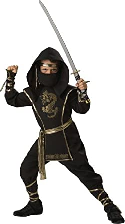 In Character Costumes, LLC Boys 2-7 Ninja Warrior Shirt and Pant Set, Black, X-Small