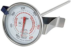 Winco 2-Inch Dial Deep Fry Candy Thermometer with 5-Inch Probe by Winco