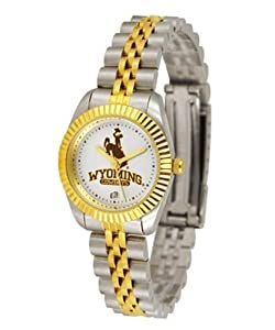 Wyoming Cowboys UW NCAA Ladies 23Kt Gold Watch by SunTime