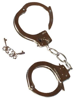 New Police Costume Accessory Real Steel Metal Handcuffs