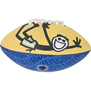 Life is Good Good Times Aqua Mini Football, Sunny Yellow, One Size at Sears.com