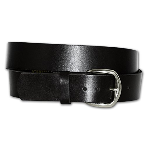 Extra-Wide Oil Tan Plain Strap Leather Belt - MADE IN USA (Black 62)