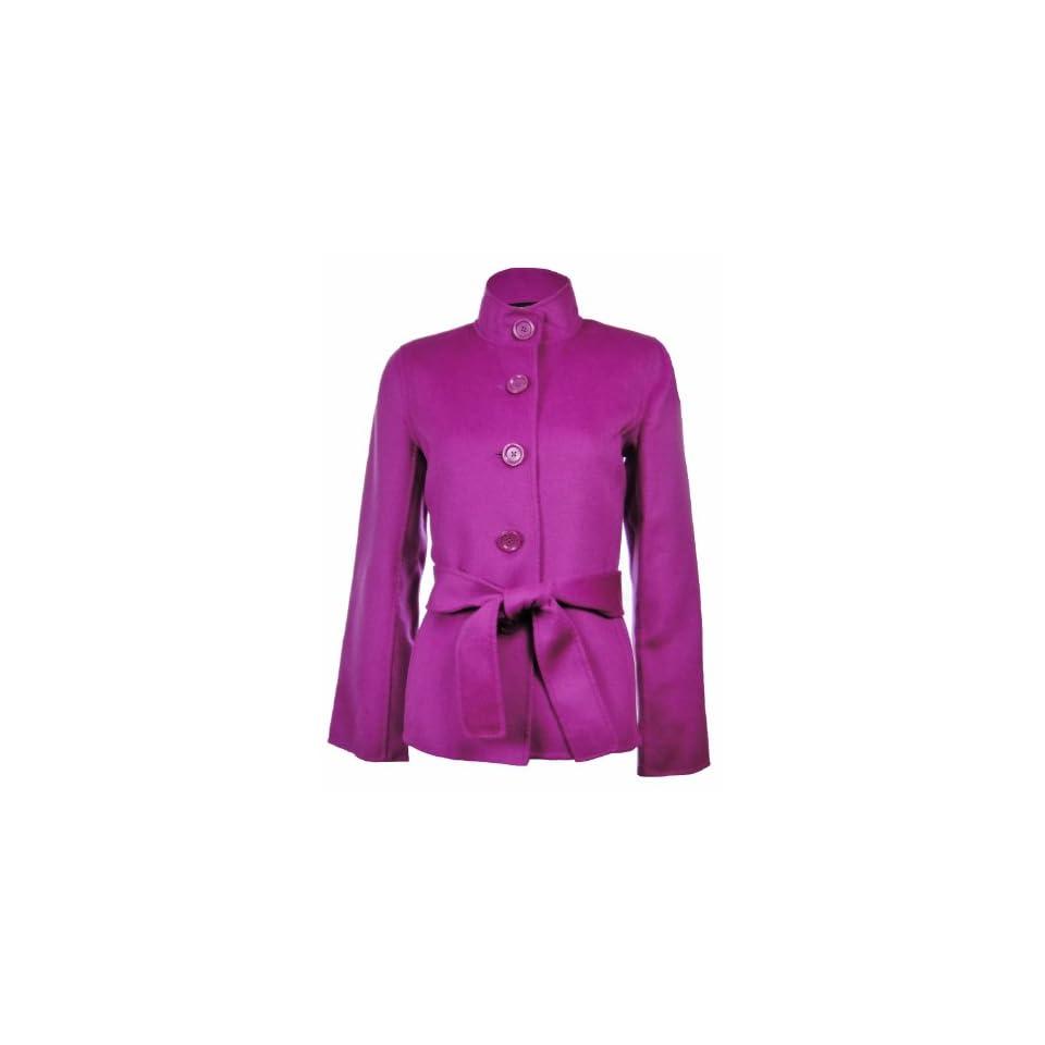 Sutton Studio Womens Wool & Cashmere Flare Sleeve Jacket Misses