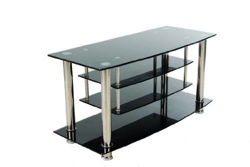 Home Source Industries TV4311 Modern TV Stand with Shelving for Components, Black Glass picture B0032WXXQQ.jpg