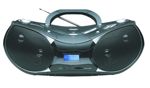 Naxa Electronics Npb-256 Portable Mp3/Cd Player With Text Display, Am/Fm Stereo Radio, Usb Input And Sd/Mmc Card Slot