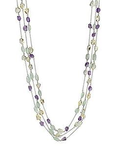 Opera Length Multi-Tiered Gemstone Necklace