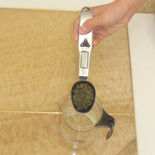 Générique-Cuillères à mesurer-HLCS 500-1 500 g/10 Cuillère Balance numérique pour lait en poudre, thé, sel