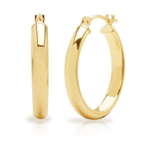 Duragold 14k Yellow Gold Hoop Earrings (0.76
