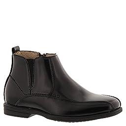 Florsheim Infant/Toddler Boys\' Reveal Chelsea Boot Jr.,Black Smooth Leather,US 1