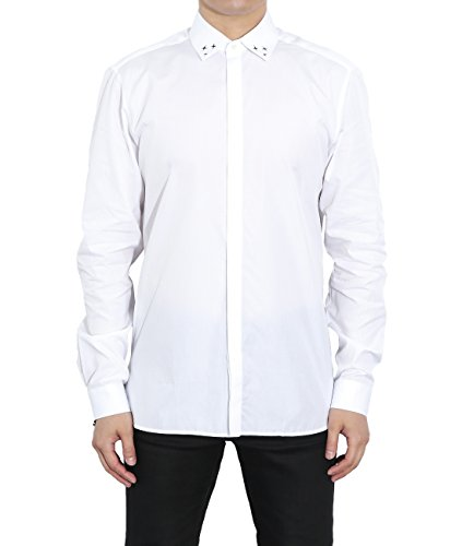 wiberlux-neil-barrett-mens-mini-cross-print-concealed-placket-shirt-40-white