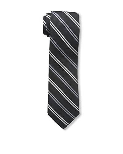 Franklin Tailored Men's Stripe Tie, Blue/Cream