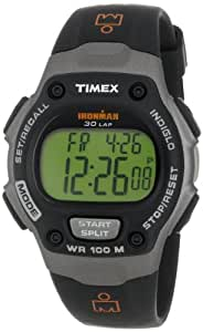 "Timex Men's T53151 ""Ironman"" Traditional 30-Lap Memory Recall Black and Gray Resin Watch"