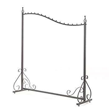 Free Standing Decorative Antique Grey Iron Garment Coat Rack (Y0021)