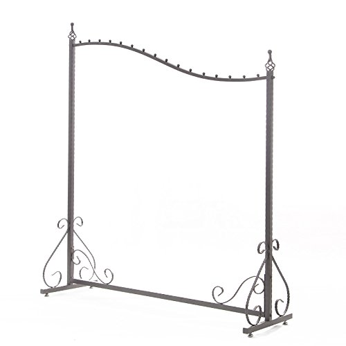 Free Standing Decorative Antique Grey Iron Garment Coat Rack (Y0021) 1