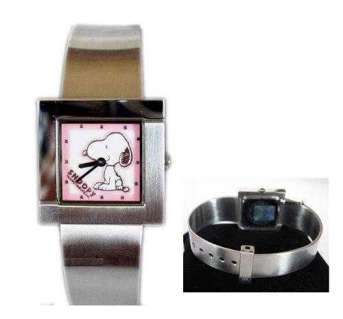 Pink Face Steel Band Snoopy Watch - Snoopy Womens Watch