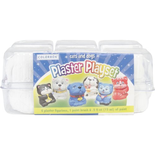 Colorbok You Paint It Plaster Kit, Value Pack, Cats and Dogs - 1