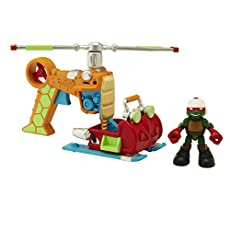 Teenage Mutant Ninja Turtles Half Shell Heroes Drop Copter w/ Pilot Raph