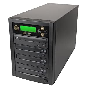 SuperMediaStore 1 to 3 DVD Duplicator (Economic Line) built-in Sony 20X Burner, Black Casing - Retail