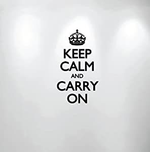 Keep Calm and Carry On Wall Decal Sticker Quote #1162 (16
