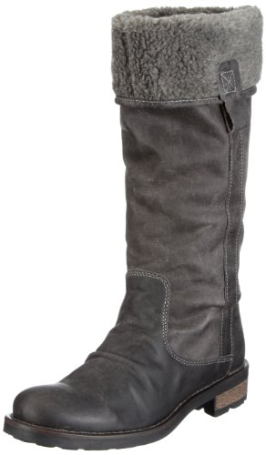 Maruti Women's Mirella Grey Leather Flat 66.30155.2055 4 UK