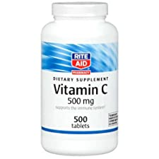 Rite Aid Vitamin C, 500 mg, Tablets, 500 ea