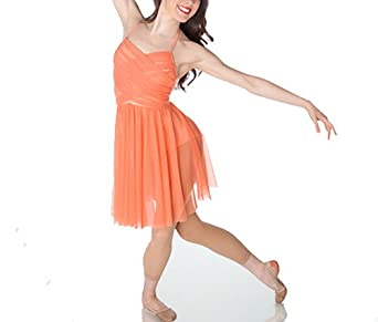 Buy Body Wrappers P746 Ladies' Premiere Halter Cross-Over Front Dance Dress by Body Wrappers