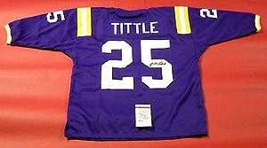 Y.A. Tittle Autographed Jersey - Louisiana State U 3 4 Sleeve - JSA Certified -... by Sports+Memorabilia