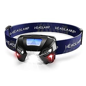 【充電式ヘッドライト】 LEDヘッドランプ 小型軽量 センサー機能 防水