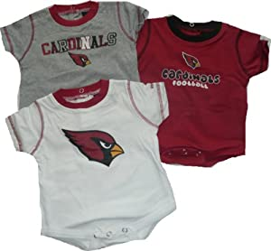 Reebok Arizona Cardinals Newborn 3 Pc Creeper Set 6-9 Months Infant Baby