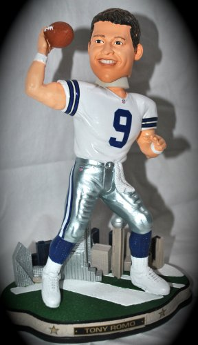 "Dallas Cowboys T. Romo #9 Premium ""CITY COLLECTION"" 10 inch Limited Edition Bobble head at Amazon.com"