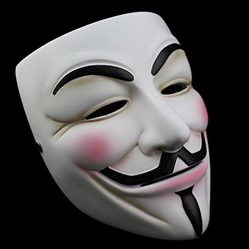 Smays-V per Vendetta Maschera di Guy Fawkes Cosplay poliresina regalo per feste di Halloween, Maschera, spettacoli, Carnevale e bar