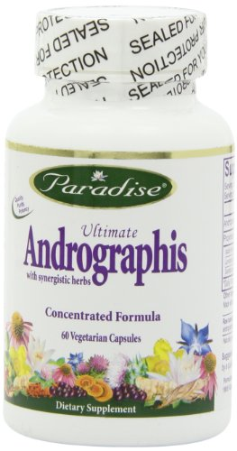 Paradise Herbs Andrographis with Elderberry Vegetarian Capsules, 60 Count