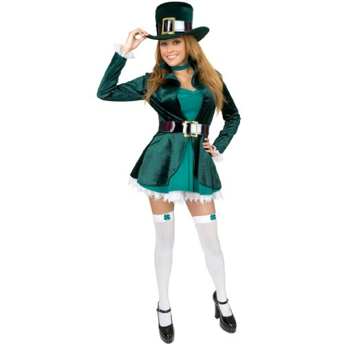 Charades Costumes - Sexy Leprechaun with Hat Adult Plus Costume