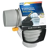Easy Slip 4-in-1 RV Sewer Hose Adapter With Elbow-4N1 ELBOW SEWER ADAPTER