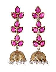 Amethyst By Rahul Popli Pink Gold Plated Jhumki Earrings