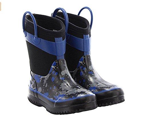 Western Chief Kids Neoprene Rain Boot - Blue Paint Ball Splat (13/1 CHILD)) (Neoprene Rain Boot Liners compare prices)