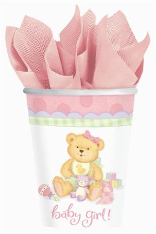 Precious Bear Pink Cups