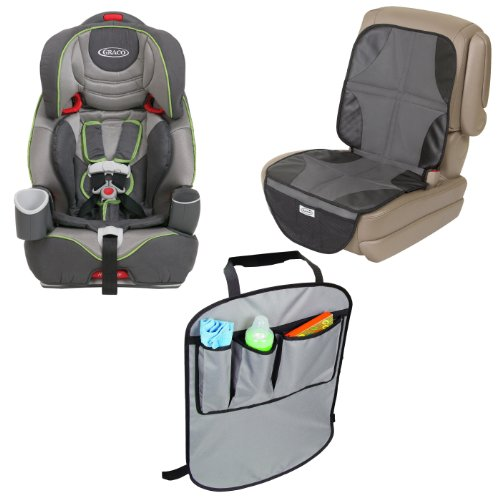 Graco Nautilus 3-In-1 Harness Booster Car Seat With Car Seat Mat & Backseat Kick Protectors, Gavit front-1001154
