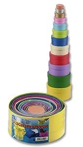 Folia 3209 - Cajas de regalo hechas de cartón redonda, color, 12 piezas de diferentes tamaños y colores