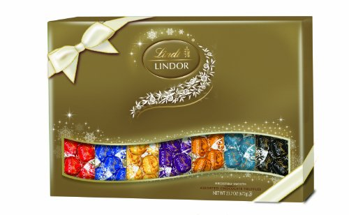 Lindt Chocolate Lindor Truffles Deluxe Gift Box,