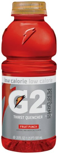 Gatorade G2 Sports Drink, Fruit Punch, Low Calorie, 20-Ounce Bottles (Pack Of 24)