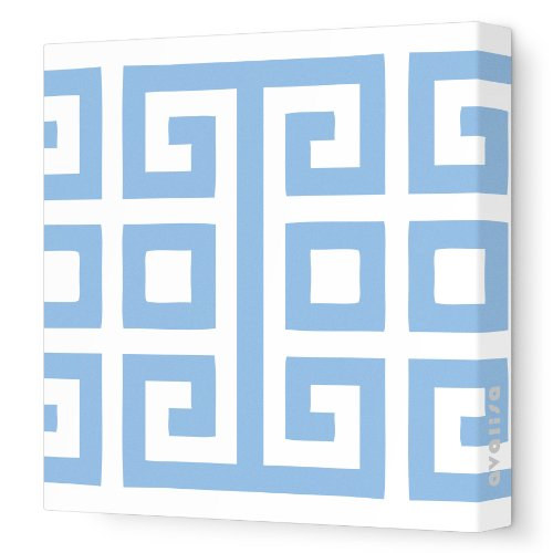 "Avalisa Stretched Canvas Nursery Wall Art, Big Square, Blue, 18"" X 18"""