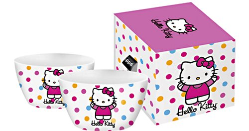 Paperproducts Design Hello Kitty Polka Dot Gift Boxed Set of 2 Bowls - 1